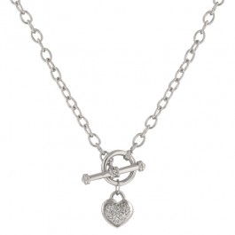 Speckled Heart Necklace with Heart Charm
