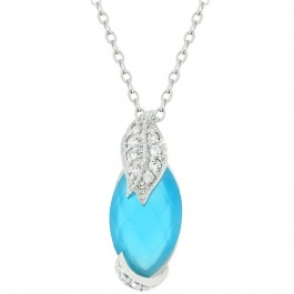 Leaf and Aqua Marquise