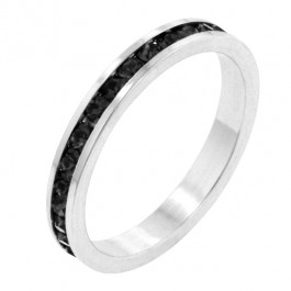 Stylish Stackables with Jet Black CZ
