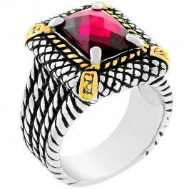 Dark Pink Cable Ring