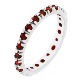 Ruby Red CZ Eternity Ring