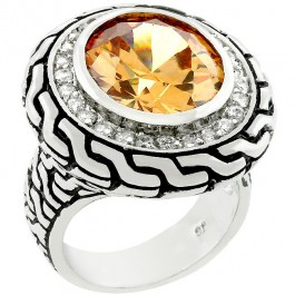 Vancouver Champagne CZ Ring