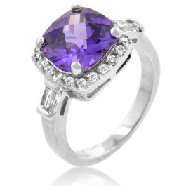 Starry Night Amethyst Fashion Ring