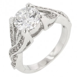 Engagement Silvertone Ring