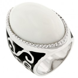 Contemporary White Cocktail Ring