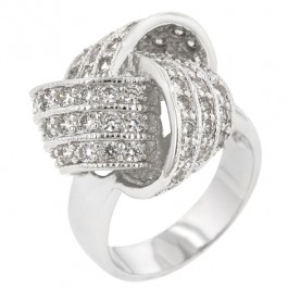 Large CZ Knot Ring