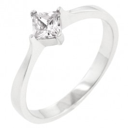 CZ Princess Solitaire Ring