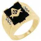Stunning Masonic Mens Ring