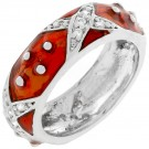 Boogie Down Ruby Red Enamel Ring
