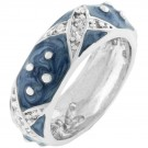 Boogie Down Blue Enamel Ring