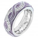 Lavender Enamel Breeze Ring