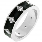 Jet Black Enamel Ring